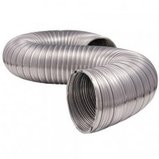 Silver flexible double layer ducting 750cm